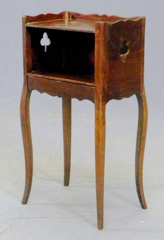 56: Louis XV Style Carved Fruitwood Night Stand, early