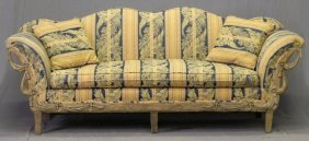 French Style Double Camelback Settee, 20th C., The