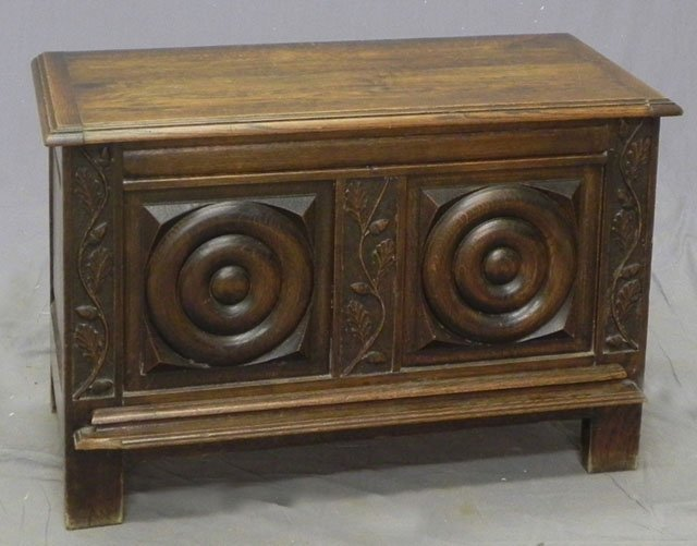 65: Louis XIII Style Carved Oak Bedding Box, early 20th