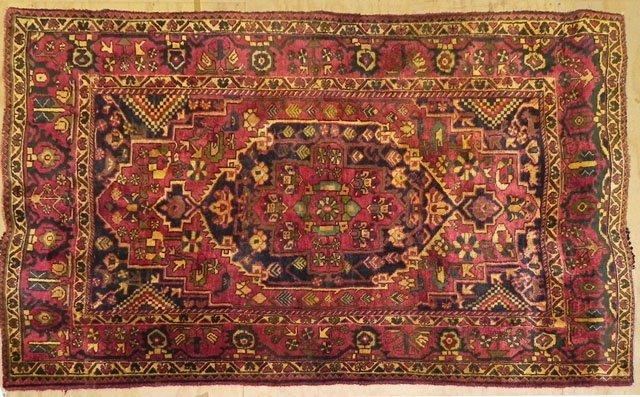 66: Persian Hamadan Carpet, 5' x 7' 10.