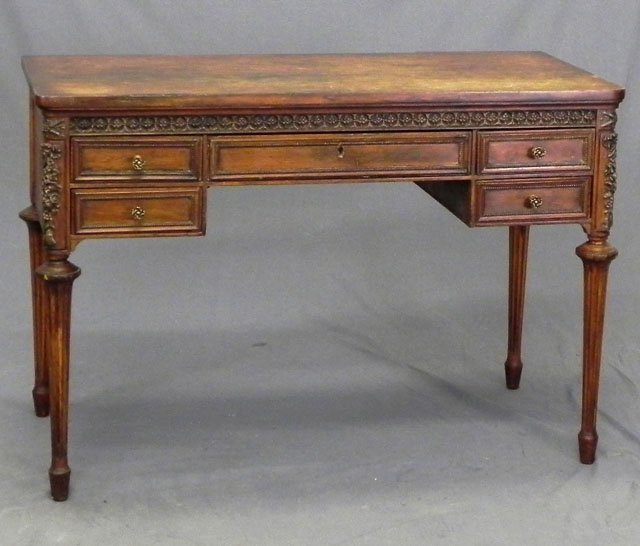71: Louis XVI Style Carved Beech and Gesso Lady's Desk,
