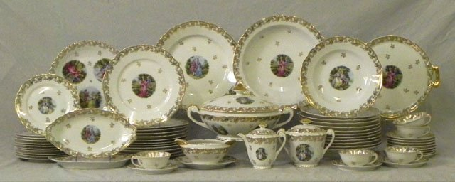 73: Seventy-Four Piece Assembled Set of Limoges China D