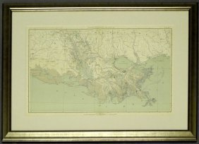 """""""Map Of The Louisiana Coast Line, From The Atlas To"""