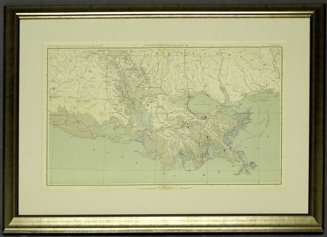 "79: ""Map of the Louisiana Coast Line, from the Atlas to"
