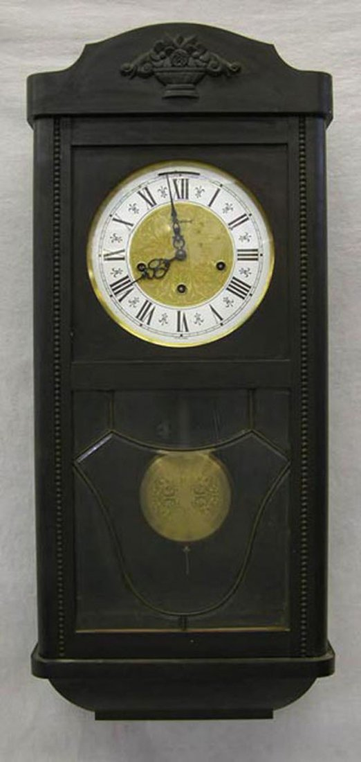 "83: Carved Pine ""President"" Wall Clock, c. 1950, with a"