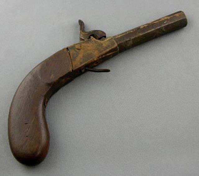 770: Single Shot Percussion Cap Boot Pistol, 19th c., p
