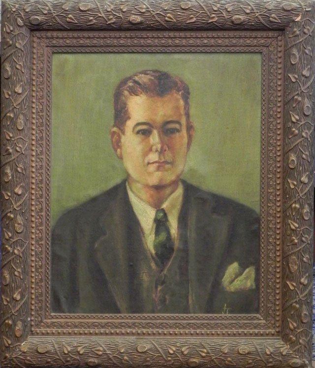 "871: New Orleans School, ""Portrait of Henri F. Villere,"