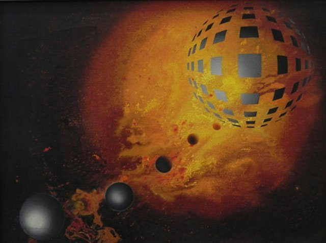 """871A: Alain Bisson, """"Planets,"""" 1976, signed and dated l"""
