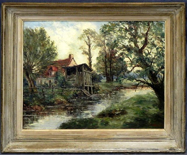 """874: L. De Tereauville, """"The House on the River,"""" 20th"""