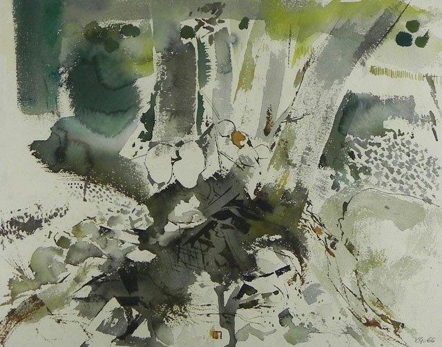 "877: Xavier Gonzales (1898-1993), ""Summer No. 2,"" 1966,"