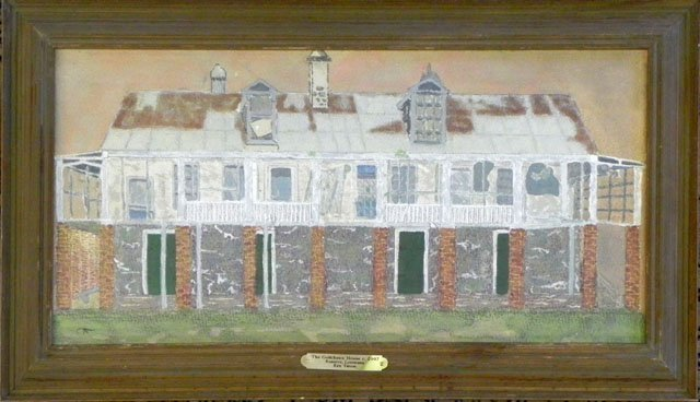 "878: New Orleans School, ""The Godchaux House,"" 2007, wa"