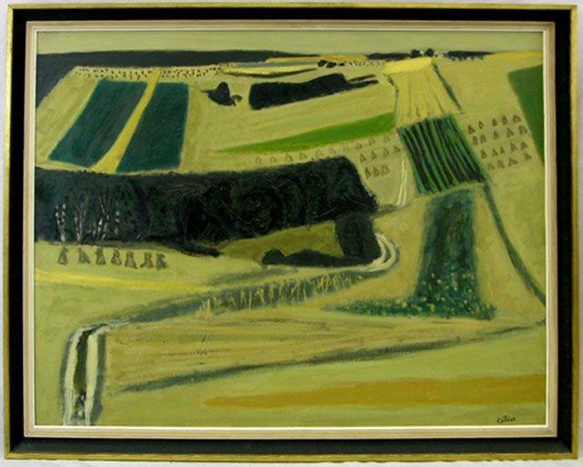 "879: Pierre Celice (1932-   ), ""Yellow Landscape,"" 20th"