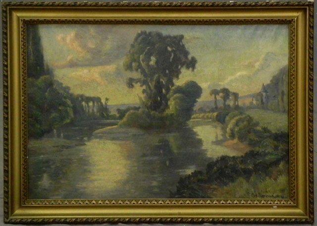 "880: Francois Max Bugnicourt (1868-   ), ""Island in the"