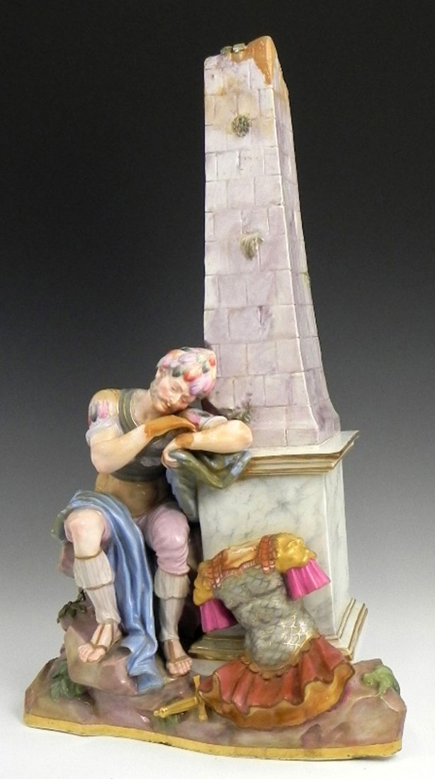 1035: Unusual Meissen Porcelain Figure, 19th c., of a s