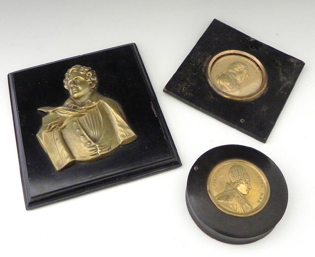 1176: Three Pieces of Brass, consisting of a relief pla