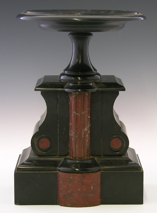 7: Rouge and Black Marble Coupe, 19th c. the circular d