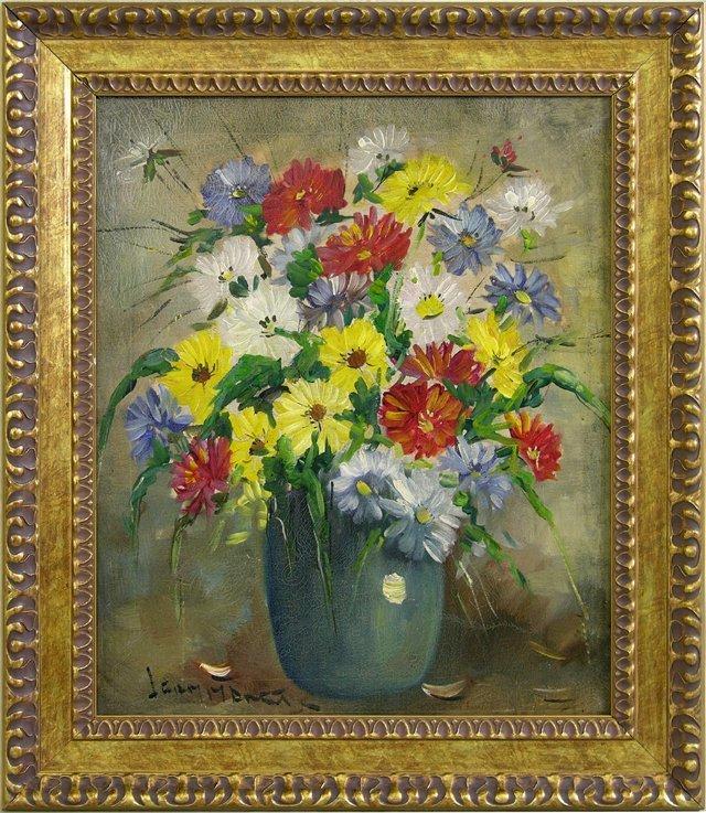 """813: Leon Moret (1890-1973), """"Les Fleurs de Printemps,"""""""
