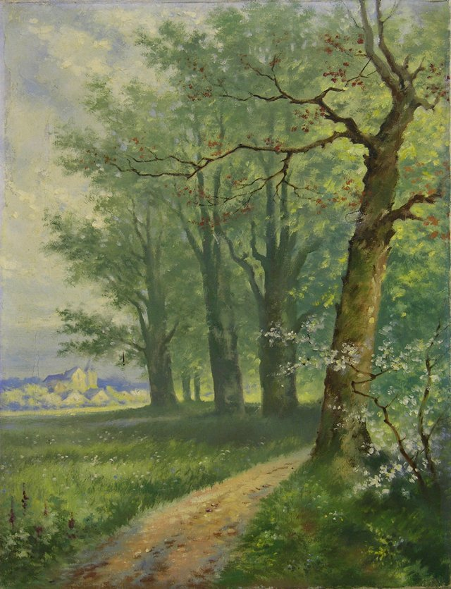 """819: French School, """"The Road Through the Trees,"""" early"""