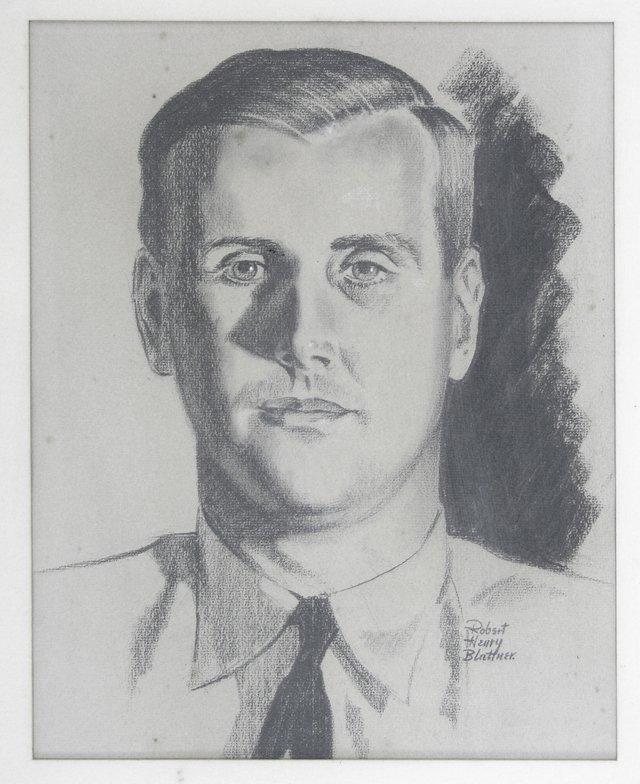 "821: Robert Henry Blattner (1906-  ), ""Portrait of a Ma"
