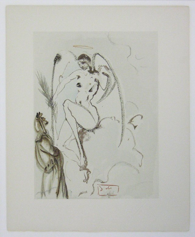"""832: Salvador Dali (1904-1989), """"Female Angel in the Cl"""