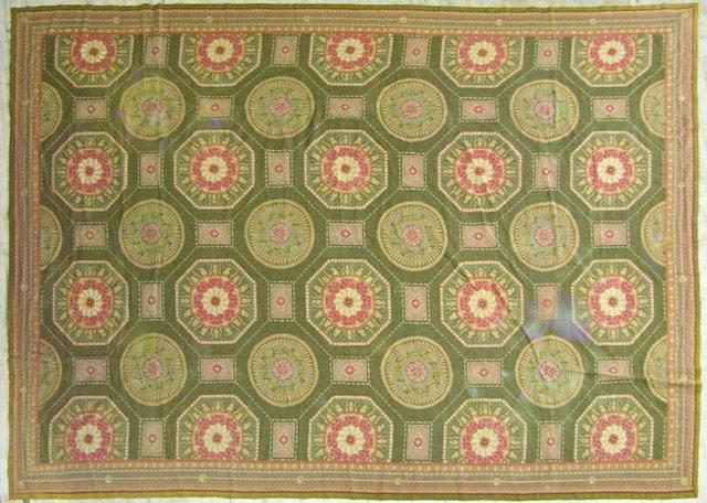 845: Aubusson Carpet, 9' 6 x 13'.