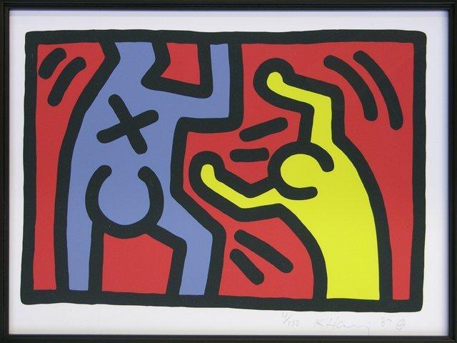 "983: Keith Haring (1958-1990), ""Untitled,"" 1987, print"