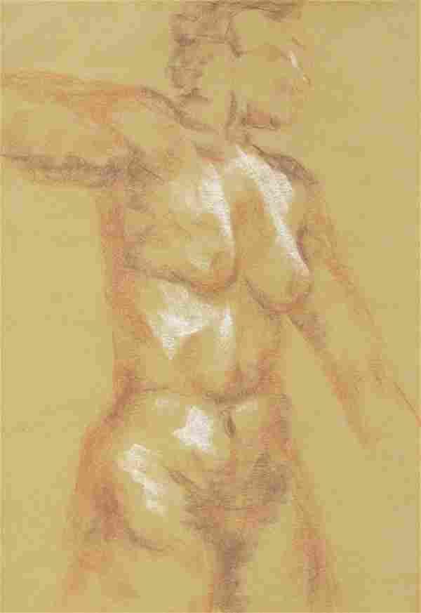 "American School, ""Female Nudes,"" 20th c., pair of"