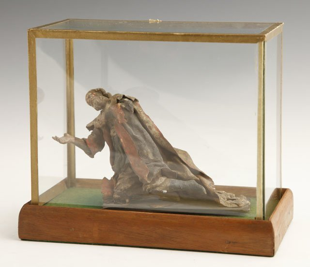 3: Carved Wood and Cloth Figure of an Actor, 18th c., n