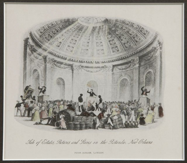 """11: """"Sale of Estates, Pictures and Slaves in the Rotund"""