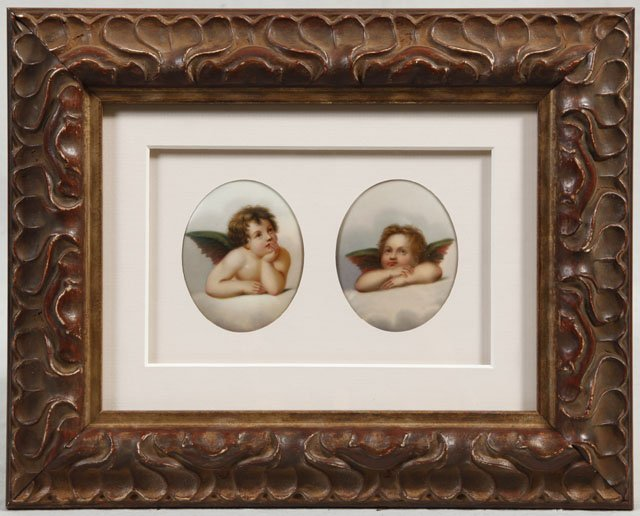 13: Pair of German Porcelain Plaques, late 19th c., of
