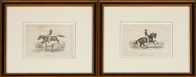"""14: Howard, """"Leaping,"""" and """"Terre a Terre,"""" 19th c., pa"""