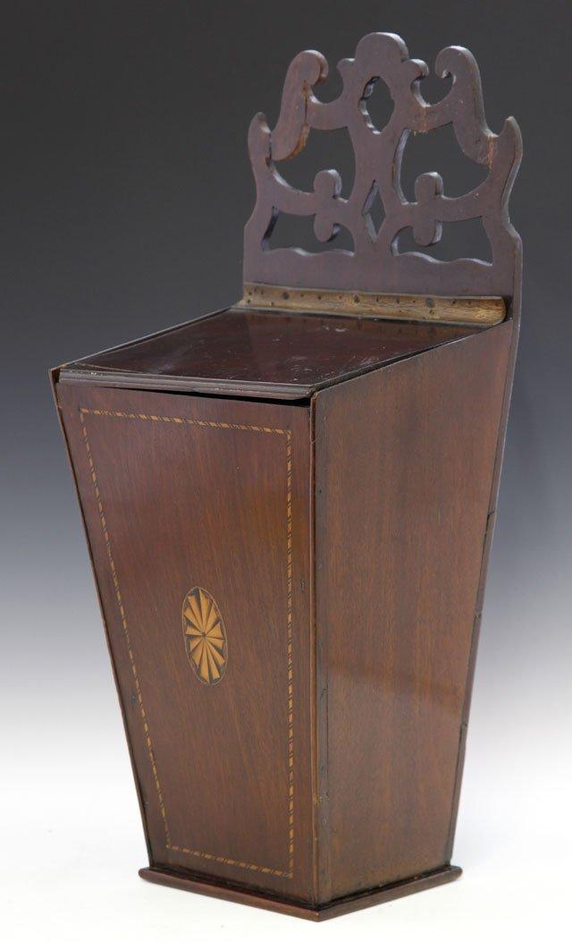 20: Georgian Inlaid Mahogany Candlebox, c. 1800, of squ