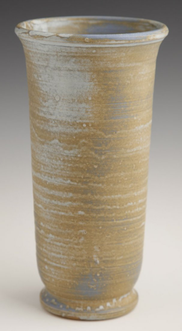 805: Shearwater Pottery Footed Flare Vase, 21st c., wit