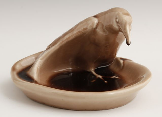810: Rookwood Rook Pattern Tray, ca. 1944, in Rookwood'