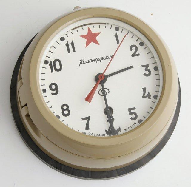 Russian submarine clock 20th c in working 1277 russian submarine clock 20th c in working o amipublicfo Images