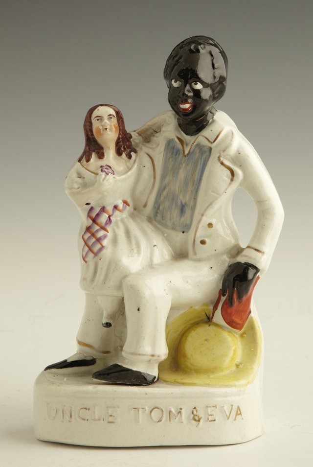 "7: Staffordshire Figure of ""Uncle Tom and Eva,"" c. 1860"