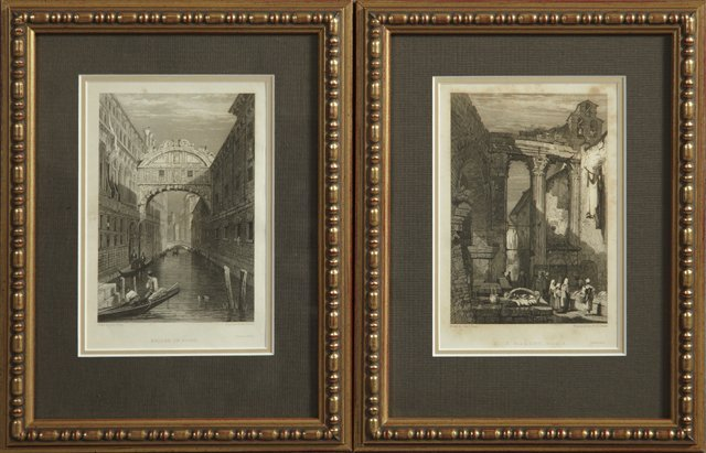 "12: Samuel Prout (1783-1852), ""Bridge of Sighs,"" and ""F"