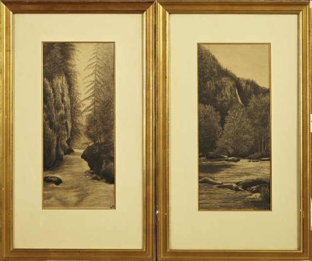 "14: French School, ""River Landscapes,"" early 20th c., p"