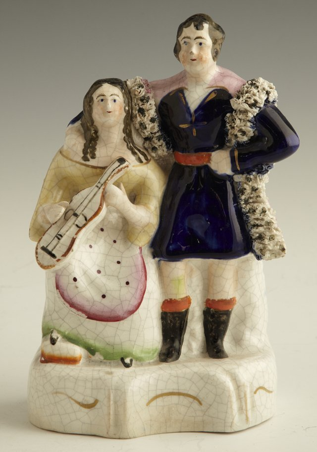 18: Staffordshire Figural Group, c. 1850, of a couple,