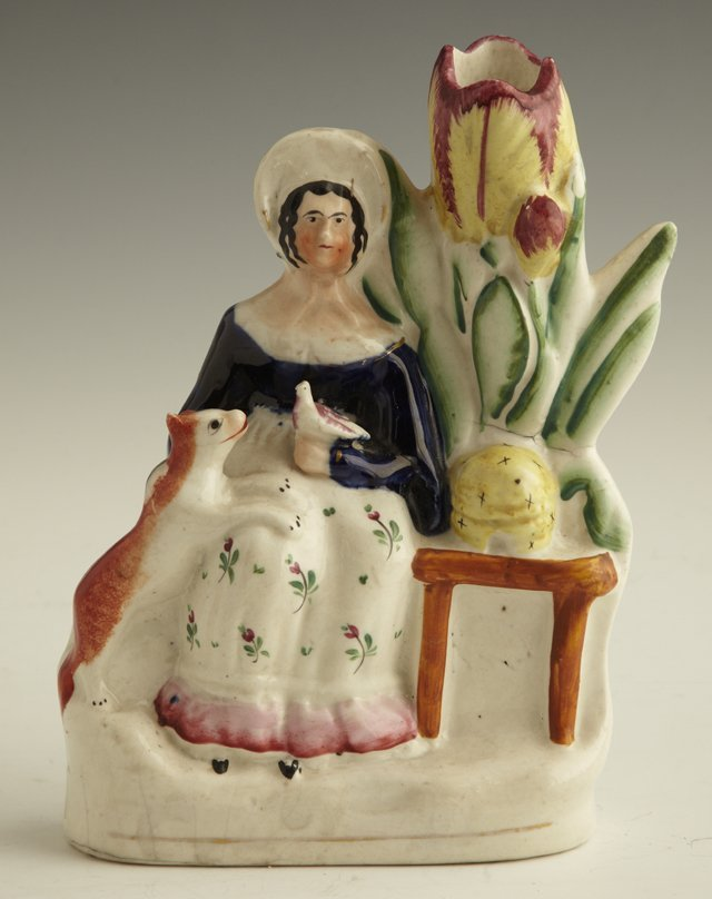 23: Staffordshire Figural Spill Vase, early 19th c., wi