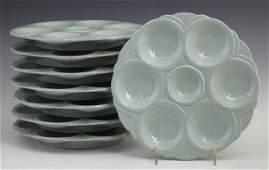 400 Thirteen Piece Ceramic Oyster Set 20th c by Sar
