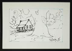 598 George Rodrigue 1944 Preliminary Sketch for a