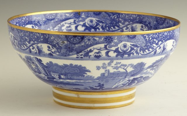 807: Copeland Spode Footed Center Bowl, 20th c., in the