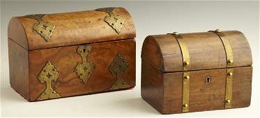 813: Two English Boxes, 19th c., consisting of an arche