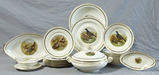 824: Fifty-Two Piece Partial Porcelain Dinner Service,