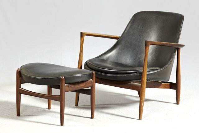 1439: Danish Modern Carved Rosewood Armchair, mid 20th