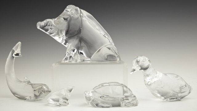 Group of Five Baccarat Paperweights, 20th c., consistin