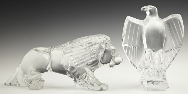 Two Baccarat Crystal Paperweights, 20th c., consisting