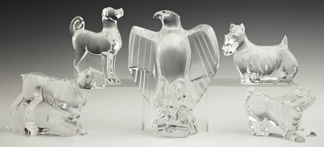 Baccarat Crystal Paperweights, 20th c., consisting of f