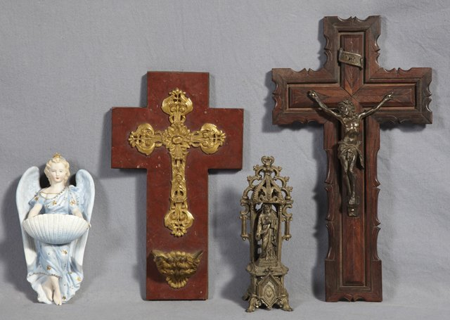Group of Four Religious Items, 19th and 20th c., consis
